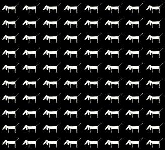 1000 Little Dogs (black pattern)