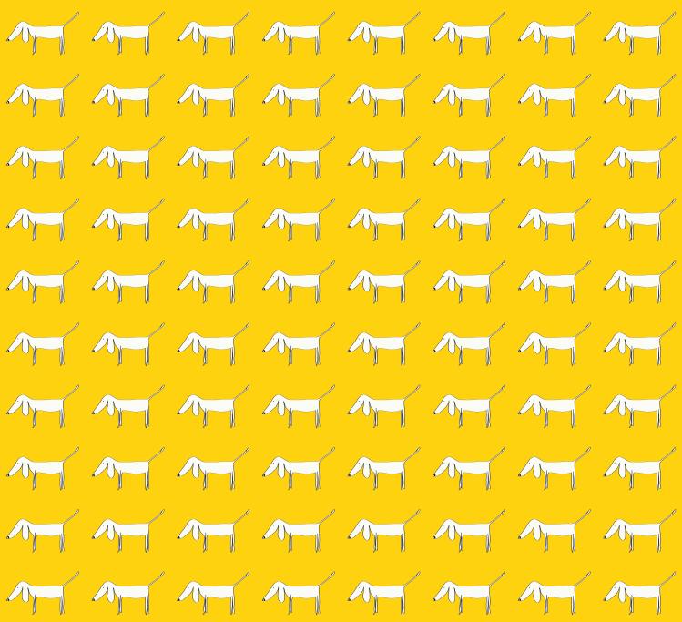 1000 Little Dogs (yellow pattern)