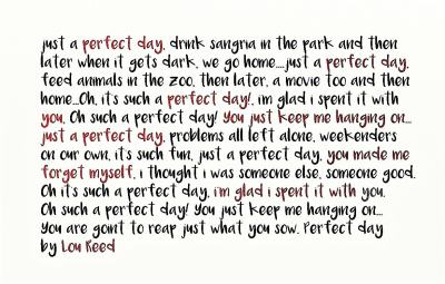 Perfect Day by Lou Reed